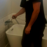 James adjusting tub filler